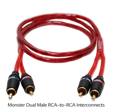 MONSTER 1M car AUDIO 2-RCA-to-2-RCA Cable 3.3ft for Alpine JVC ...