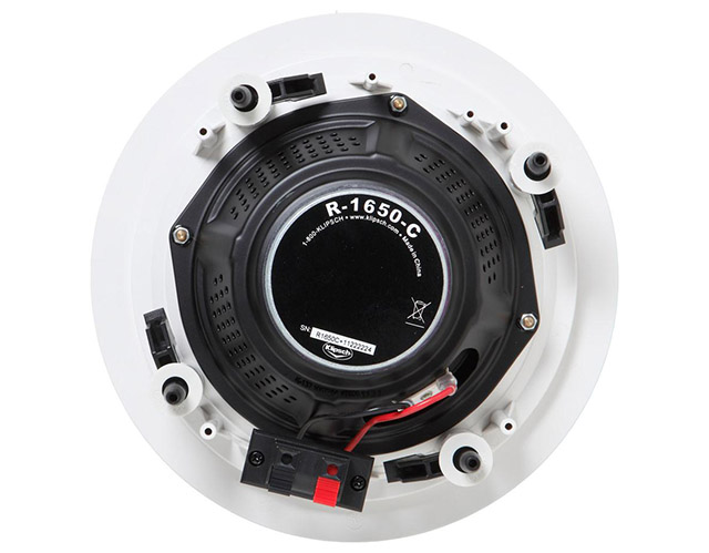 "New Klipsch R-1650-C In-Ceiling Speaker 6.5/"" 2-Way Speakers Moisture-resistant"